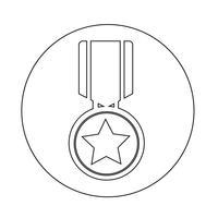 icône de la médaille vecteur