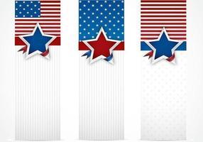 Ensemble vectoriel de bannière aux États-Unis