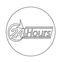 Icône de 24 heures