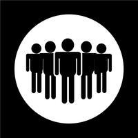 Icône de l'équipe de personnes vecteur