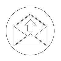 icône d'enveloppe de courrier électronique