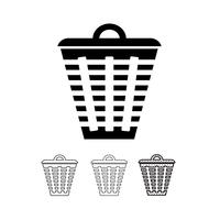 poubelle icône vecteur