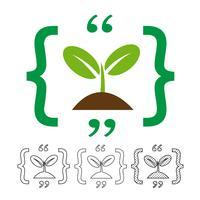 Planter l'icône vecteur