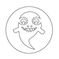 icône de fantôme Halloween vecteur