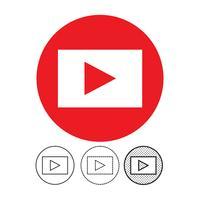 bouton icône du lecteur vidéo