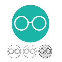 Vecteur d'icône de lunettes
