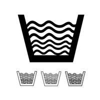 symbole d'icône de blanchisserie vecteur
