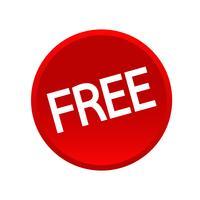 icône gratuite de bouton de signe vecteur