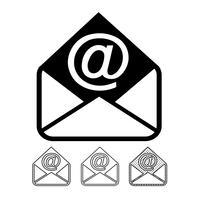 e-mail et courrier icône vecteur