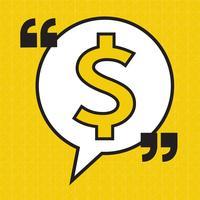 Icône d'argent signe dollar vecteur