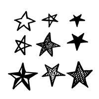 Icône étoile dessiné à la main Doodle vecteur