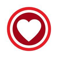 Icône de vecteur de coeur