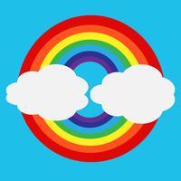 arc en ciel avec icône nuage vecteur