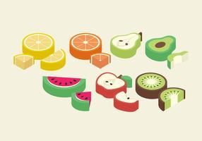 Fruits isométriques de vecteur