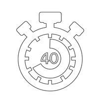 Signe de l'icône du chronomètre
