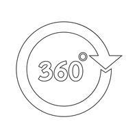 Icône de 360 degrés vecteur