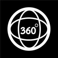 Icône à 360 degrés vecteur
