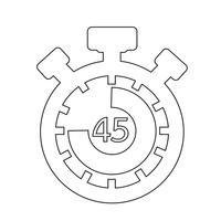 Signe de l'icône du chronomètre vecteur