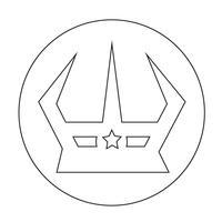 Icône de signe de couronne vecteur