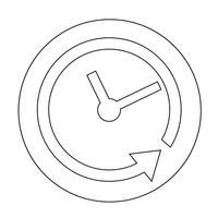 Icône du signe du temps