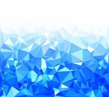 Fond de mosaïque polygonale bleue, modèles de conception créative vecteur