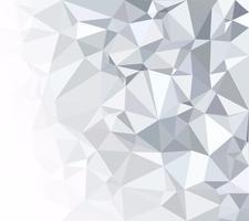 Fond polygonale blanc gris, modèles de conception créative vecteur