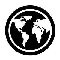 Icône de signe du globe vecteur
