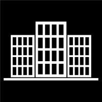 Signe de l'icône du bâtiment vecteur