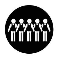 Icône de signe de personnes vecteur