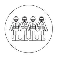 Icône de gens travailleur vecteur