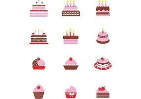 Pack vectoriel de gâteau au chocolat