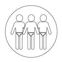 Icône de maillot de bain vecteur