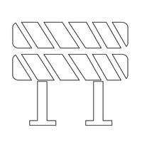 Icône de barrière routière vecteur