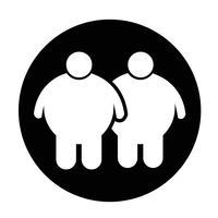 Icône de personnes grasses