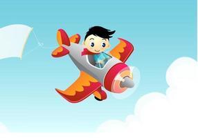 Vecteur de papier peint avion de publicité