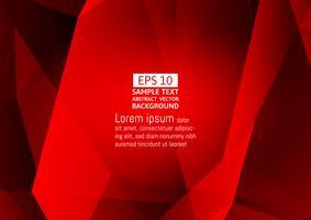 Design moderne de couleur rouge polygone abstrait vectoriel fond avec espace copie