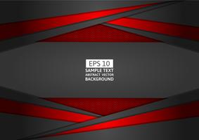 Design moderne abstrait géométrique rouge et noir avec espace copie, illustration vectorielle