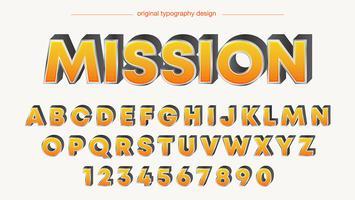 Typographie en gras orange vecteur