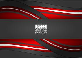 Abstrait géométrique rouge et noir avec espace copie, illustration vectorielle