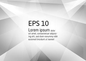Vecteur moderne eps10 design géométrique abstrait fond gris et blanc