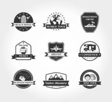 Pack d'icônes vectorielles de voyage vecteur