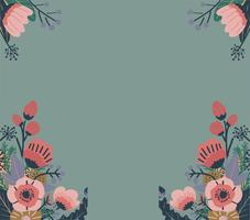 Motif floral abstrait coloré. Fond vectorielle continue
