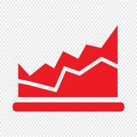 Diagramme simple graphique icône illustration vectorielle