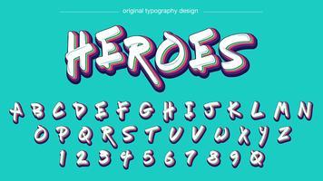 Typographie de graffiti coloré vecteur