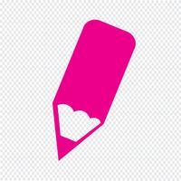 Icône de crayon Illustration vectorielle vecteur