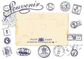 Ensemble Vector Vintage Stamp
