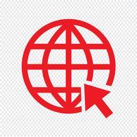 Aller sur le site internet icône illustration vectorielle vecteur