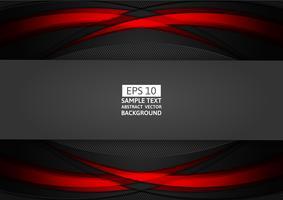 Design moderne abstrait géométrique rouge et noir avec espace copie pour votre entreprise, illustration vectorielle