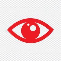 Illustration vectorielle d'oeil icône vecteur