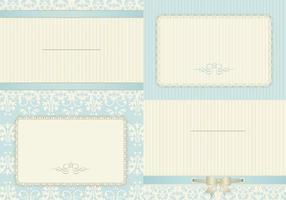 Vintage Robin egg blue card vectors